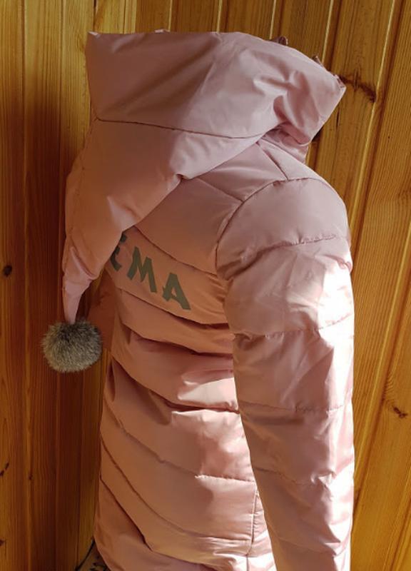 Распродажа стильный пуховик для девочки - Фото 5