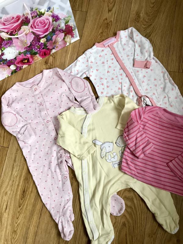 Хлопковый набор одежды для новорождённых