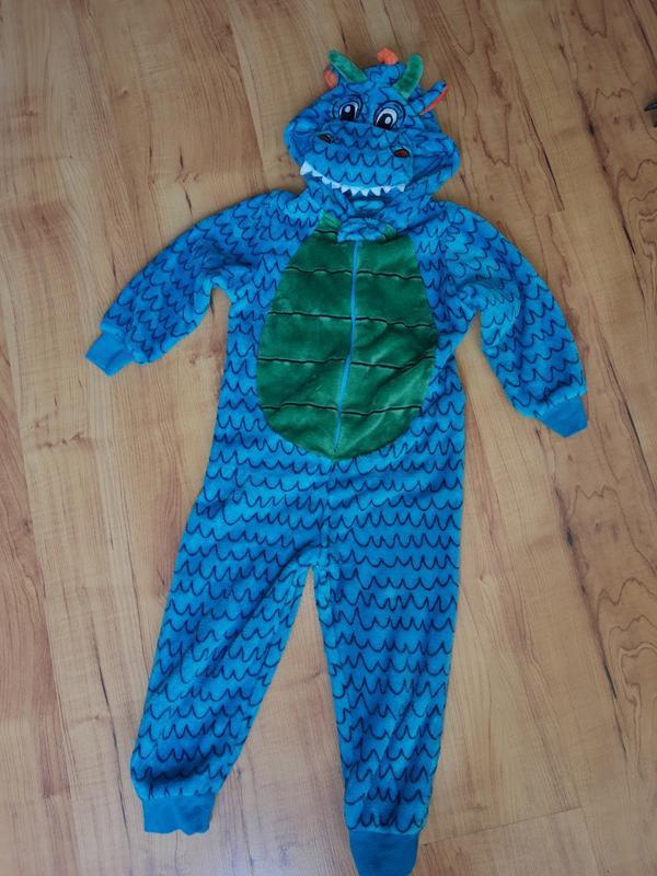 Карнавальный костюм слип пижама дракон на 5-6 лет