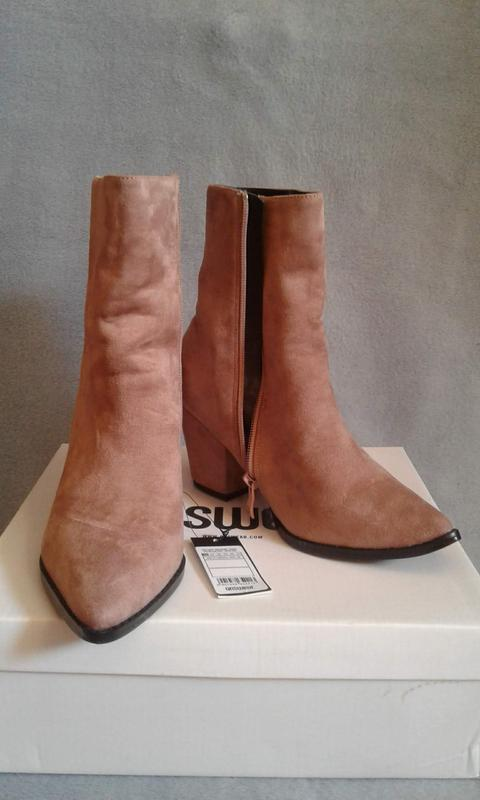 Новые ботинки ANSWEAR HERITAGE бежевые - Фото 4
