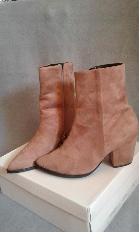 Новые ботинки ANSWEAR HERITAGE бежевые - Фото 5