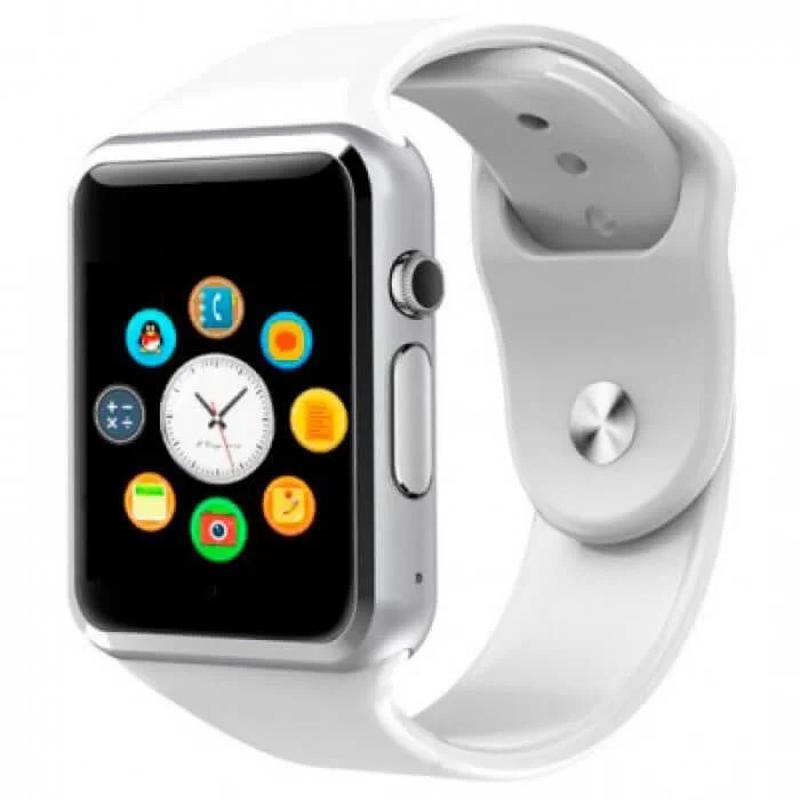 + ПОДАРОК! Смарт-часы Smart Watch A1 Белые купить в Украине
