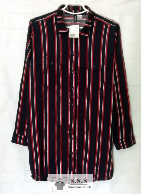 Крутая длинная, натуральная рубашка, платье-рубашка h&m