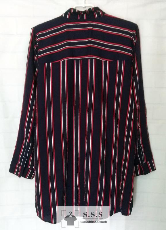Крутая длинная, натуральная рубашка, платье-рубашка h&m - Фото 2