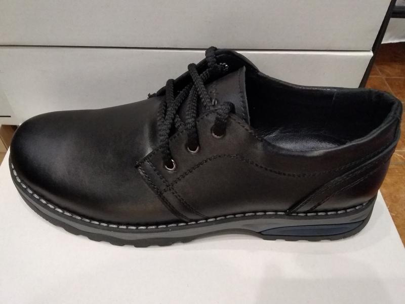 Туфли мужские кожаные - Фото 3