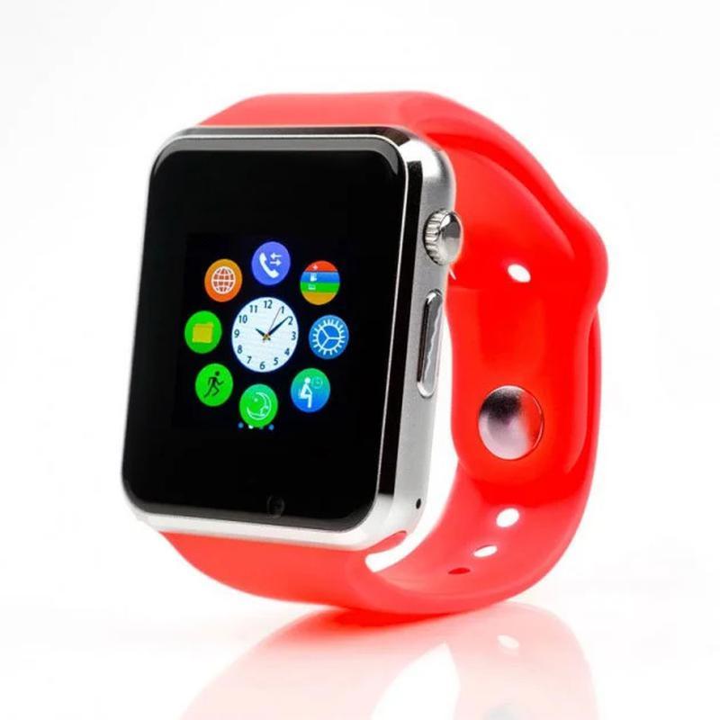 + ПОДАРОК! Смарт-Часы Smart Watch A1 Красные Купить В Украине