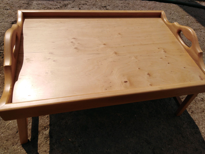 Столик для завтрака, светлая ольха - Фото 2