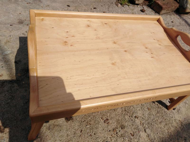 Столик для завтрака, светлая ольха - Фото 4