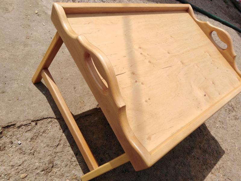 Столик для завтрака, светлая ольха - Фото 3