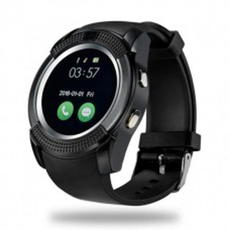 Сенсорные Smart Watch V8 смарт часы умные часы Чёрные