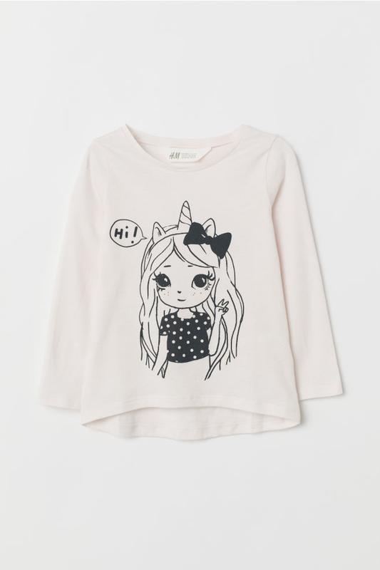 Кофта на 2-4 года, h&m top with motif