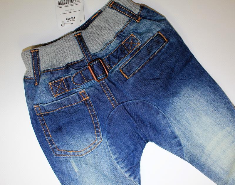 Сток. джинсы на 3-6 мес, рост 68 см - Фото 3