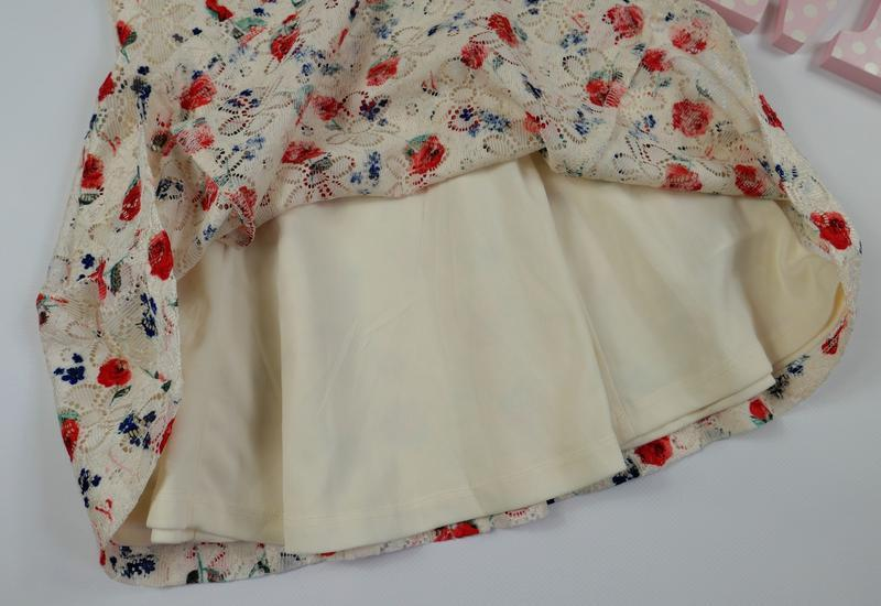 Нежное кружевное платье yd на 3-4 года, рост 104 см - Фото 2