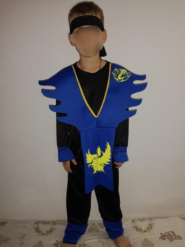 Карнавальный костюм детский ниндзя на 8-9 лет