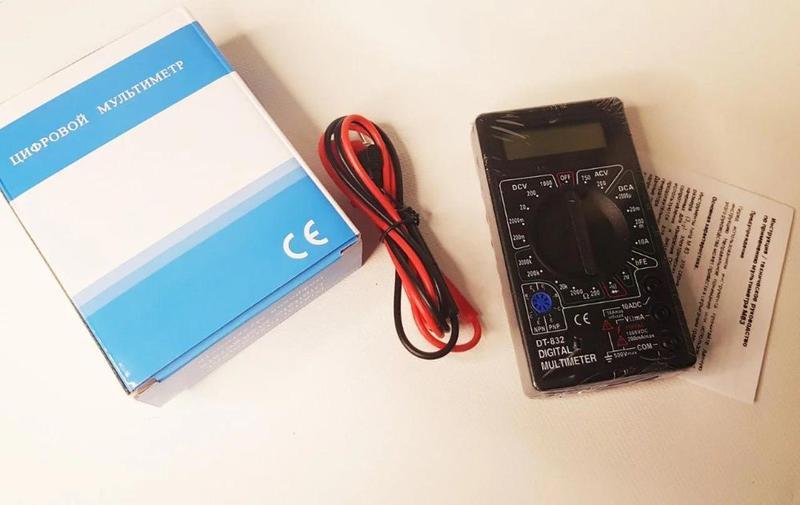 Тестер Мультиметр (тестер) DT832 цифровой
