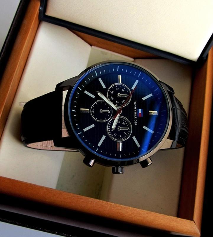 Мужские часы черные. Стильные часы мужские. Чоловічий годинник - Фото 4