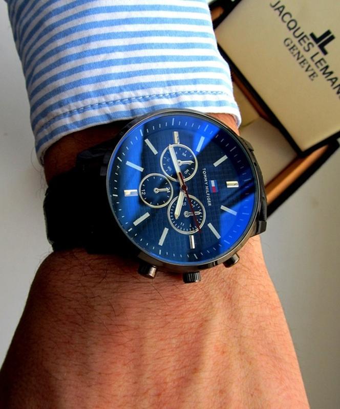 Мужские часы черные. Стильные часы мужские. Чоловічий годинник - Фото 2