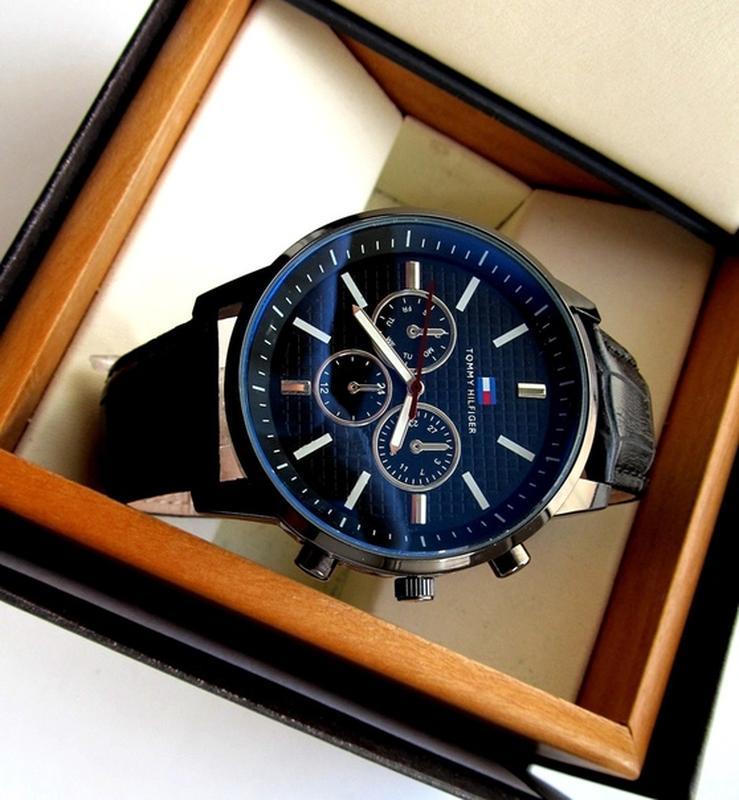 Мужские часы черные. Стильные часы мужские. Чоловічий годинник - Фото 5