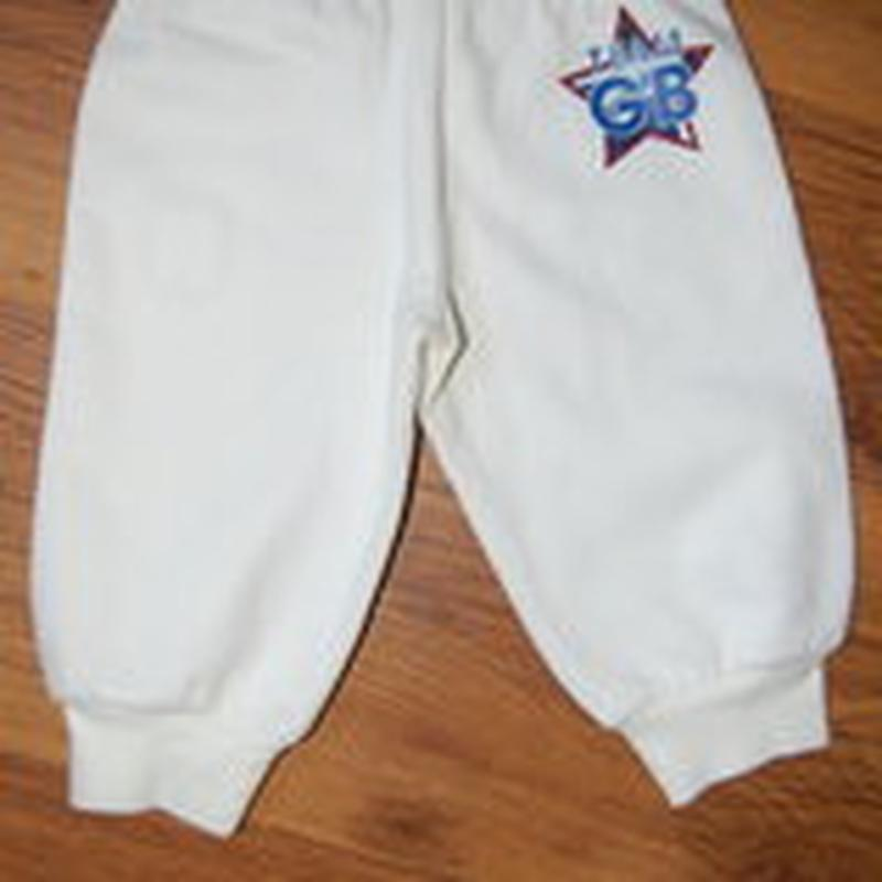 Спортивные штаны, белые, рост 80, новые - Фото 2