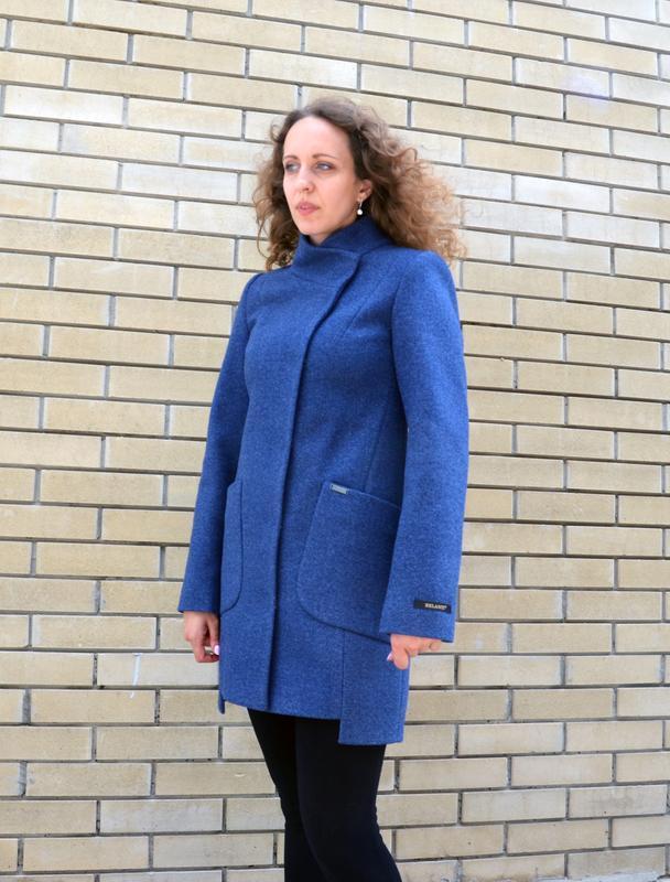 Пальто шерстяное belanti 194 цвет джинс