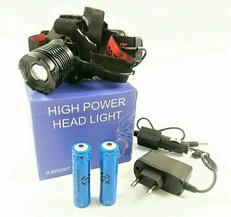 Фонарик на голову аккумуляторный светодиодный