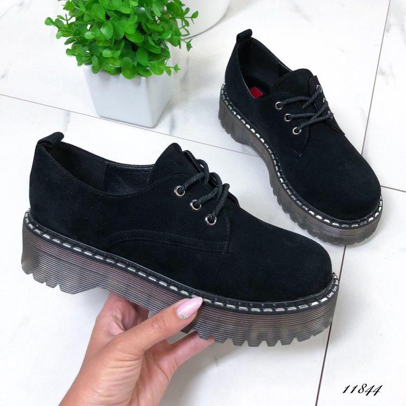 Новиночка стильные замшевые туфельки - Фото 2