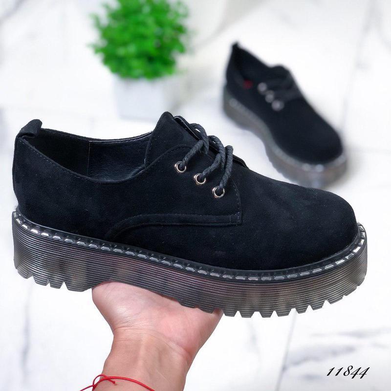 Новиночка стильные замшевые туфельки - Фото 3