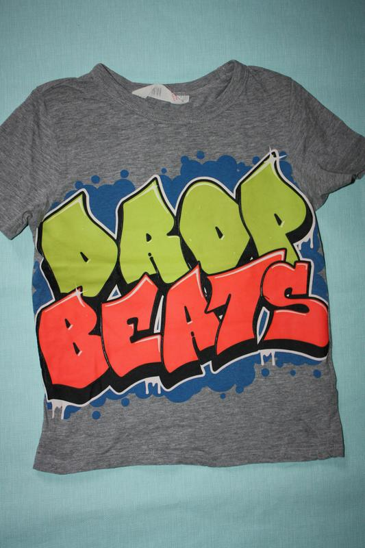 Креативная футболка ф.h&m для мальчика 4/6 лет ,состояние хорошее