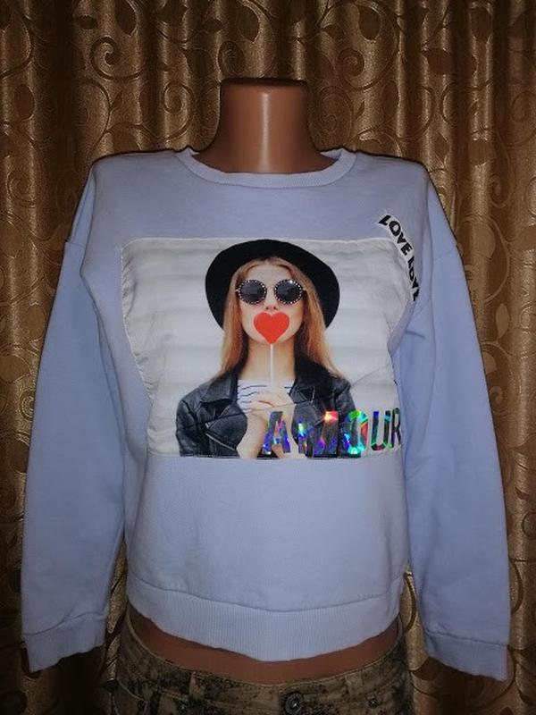 ????????????стильная кофта, свитшот, джемпер на девочку 11\12 лет river...