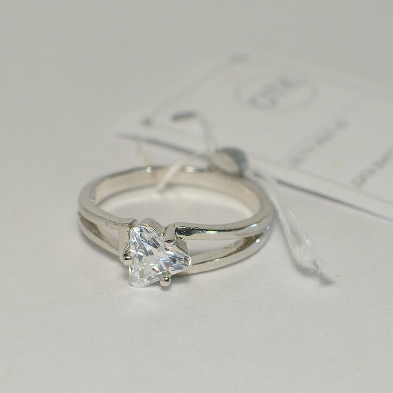 Серебряное кольцо с треугольным камнем гарри поттер 925 проба