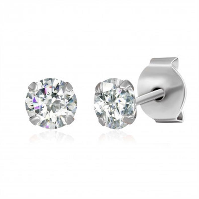 Маленькие серебряные серьги гвоздики с камнями минимализм 925 ...