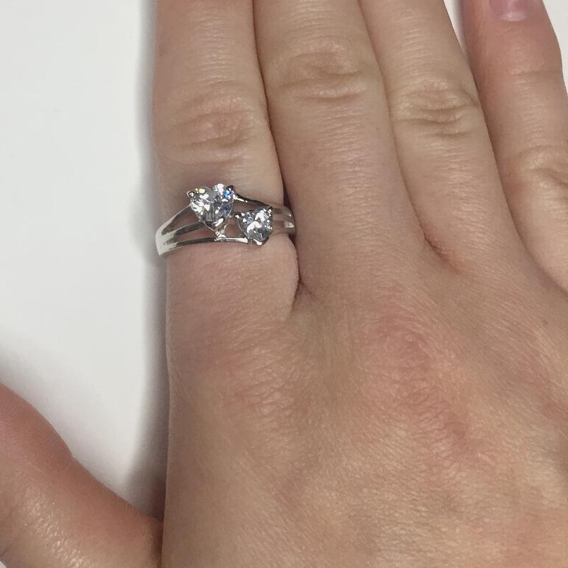 Серебряное кольцо с сердцами 925 проба