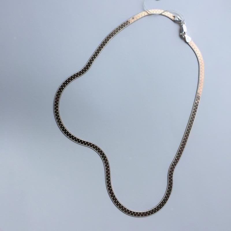Серебряная цепочка колье 925 проба с позолотой