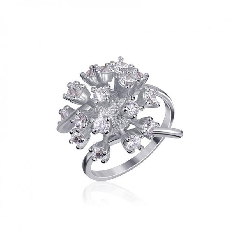 Серебряное кольцо букет 925 проба