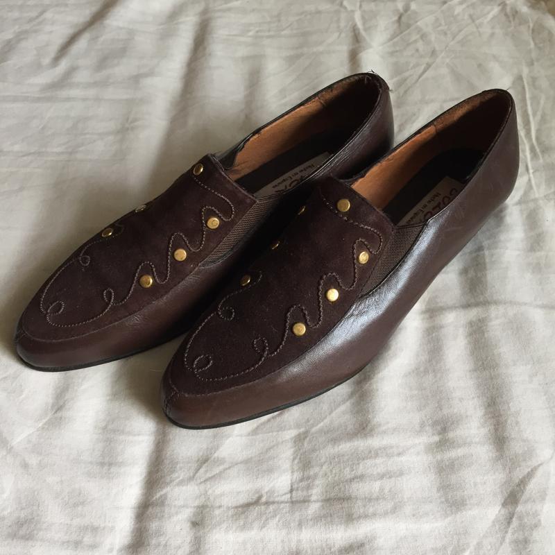 Коричневые туфли лоферы броги казаки bolero натуральная кожа