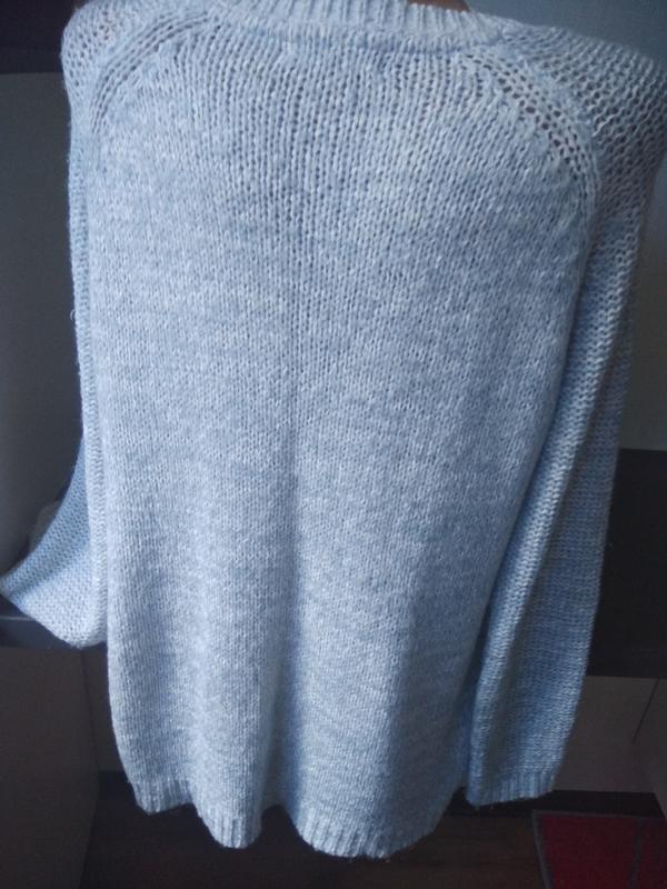 Нежный голубой свитер new look - Фото 3