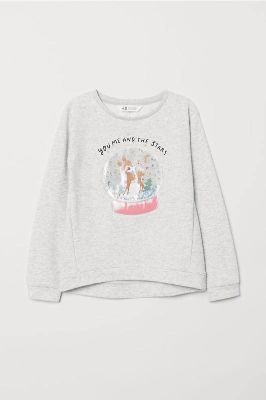 Кофта свитшот на 4-6 лет, h&m sweatshirt with motif
