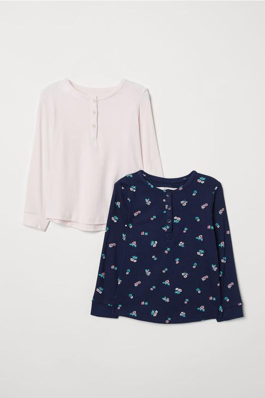 Набор из 2 кофт на 4-6 лет, h&m 2-pack tops with buttons