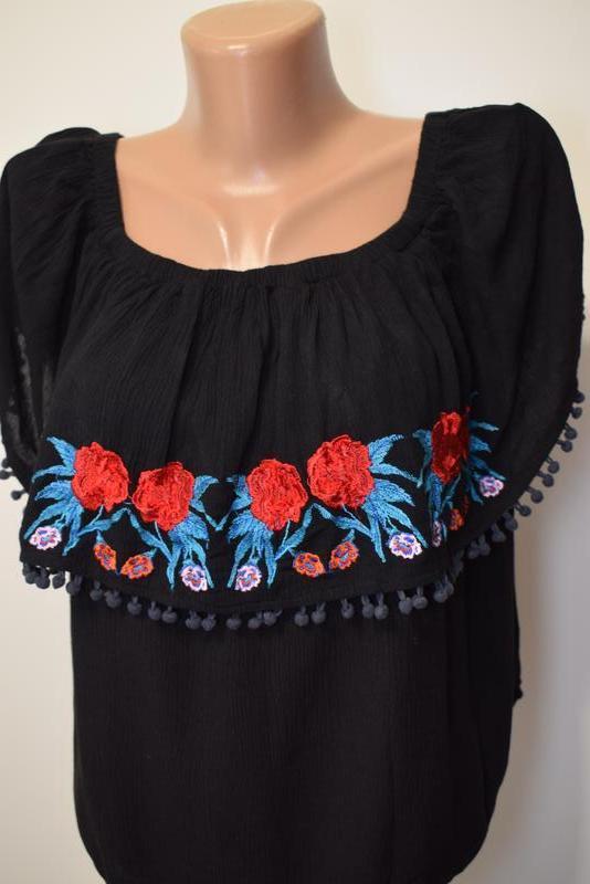 Блуза топ с вышивкой missguided - Фото 2