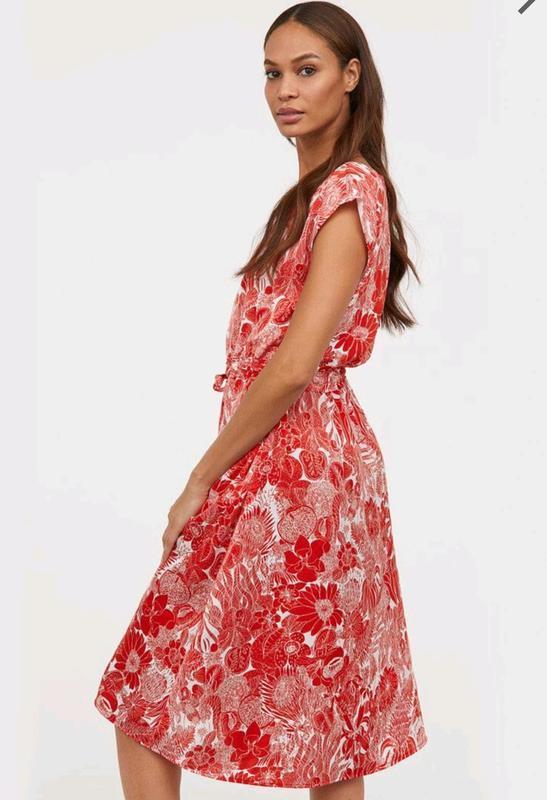 Стильное платье миди h&m без рукавов. - Фото 2