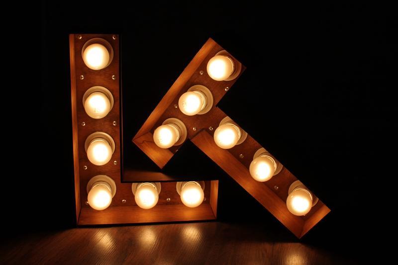 Изготовление светящихся ретро букв и цифр с лампами (лампочками) - Фото 4