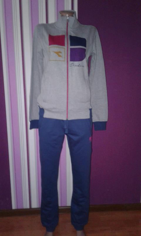 Спортивний костюм  (штаны,  брюки + кофта, толстовка ) diadora... - Фото 3