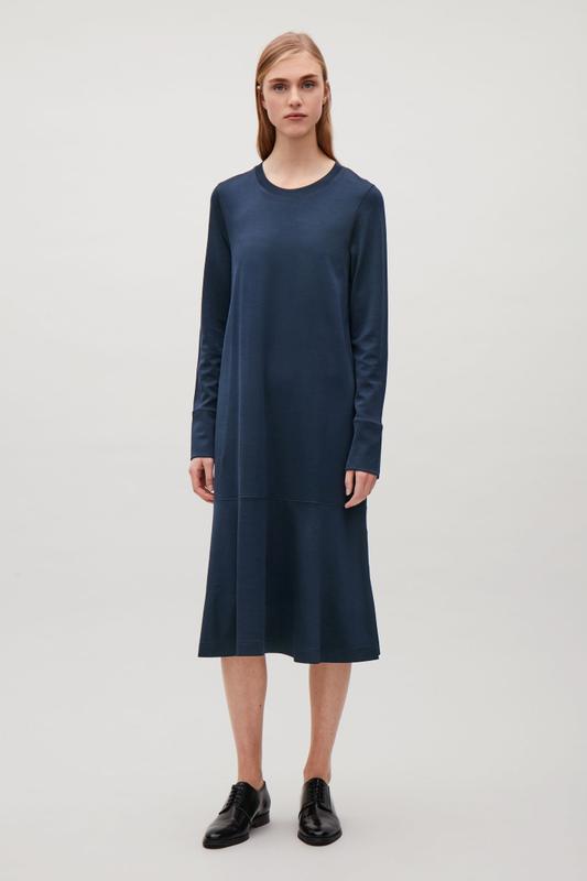 Cos платье миди с длинным рукавом