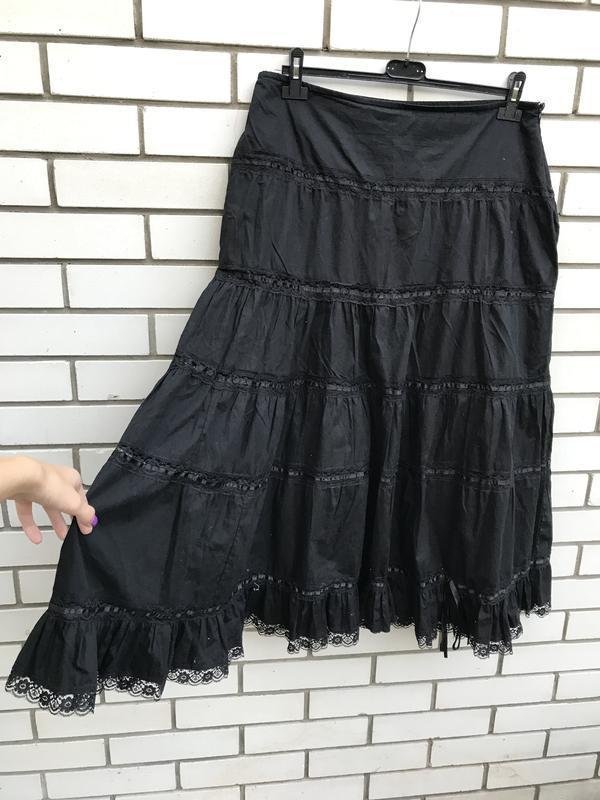 Чёрная,пышная юбка,рюши,воланы,кружево,этно,бохо,циганский стиль