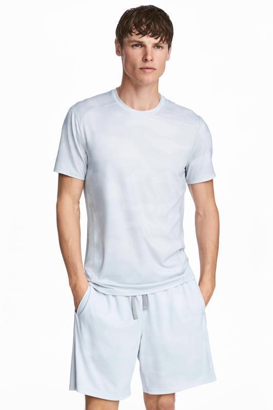 Белая спортивная футболка h&m sport !