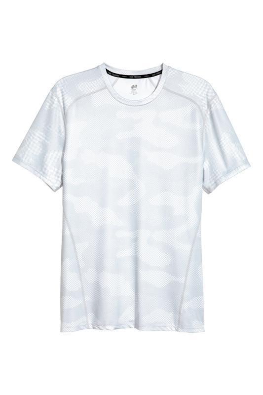 Белая спортивная футболка h&m sport ! - Фото 3