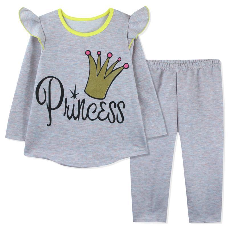 Костюм для девочки, серо-розовый. корона принцессы.