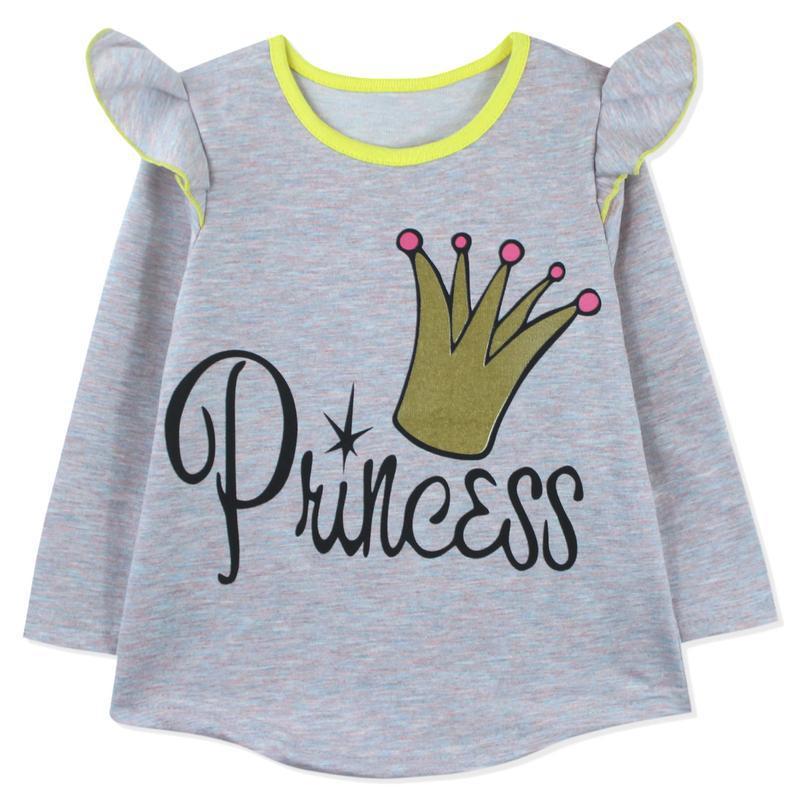 Костюм для девочки, серо-розовый. корона принцессы. - Фото 3