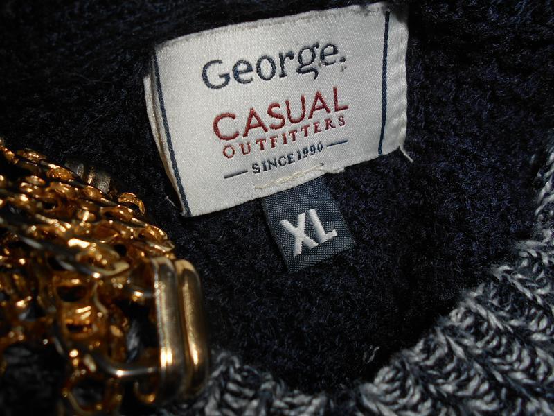 #george#свитшот оверсайз casual с  капюшоном #анорак # свитер#... - Фото 5