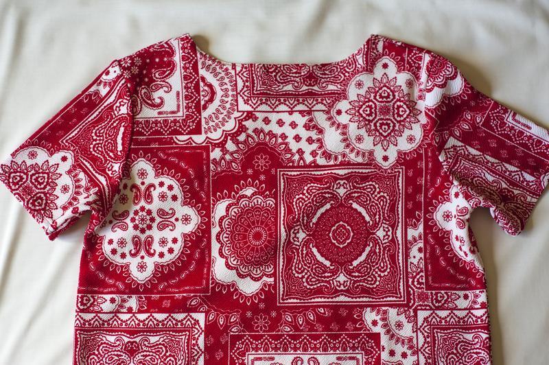 Красная блуза туника с коротким рукавом boohoo, размер l - Фото 5